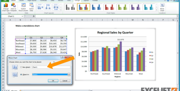 How Do I Do An Excel Spreadsheet Regarding Excel Tutorial: How To Create A Standalone Chart