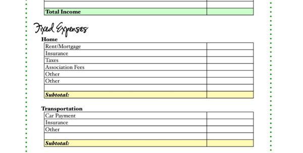 How Do I Make A Budget Spreadsheet With Free Budget Worksheet  Living Well Spending Less®
