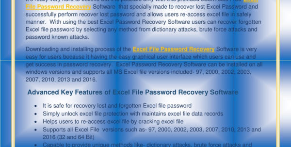 How Do I Recover An Excel Spreadsheet For Ppt  Excel File Password Recovery Powerpoint Presentation  Id:7943402