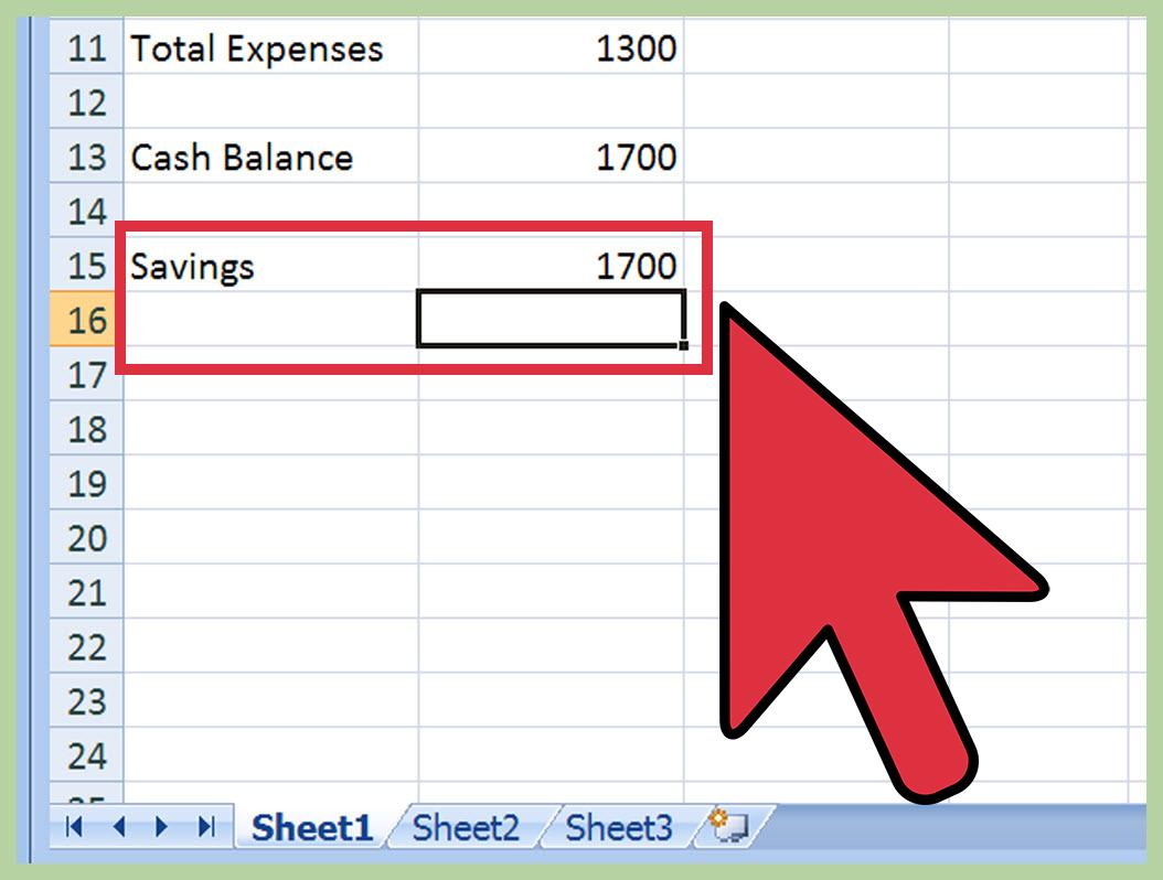 How Do You Make A Budget Spreadsheet Inside How To Create A Budget Spreadsheet: 15 Steps With Pictures