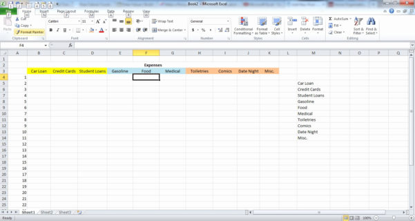 How Do You Make A Spreadsheet With How To Make Spreadsheets On Excel – Theomega.ca