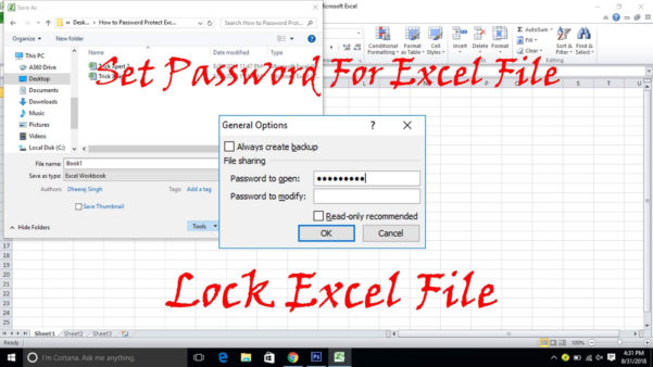 How Do You Password Protect An Excel Spreadsheet In How To Password Protect Excel File 3 Methods  Trick Xpert
