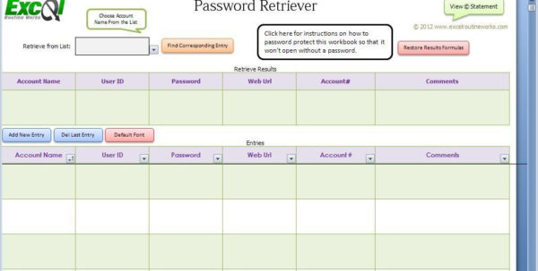How Do You Password Protect An Excel Spreadsheet Intended For Download Free Excel Spreadsheet Password Retriever, Excel