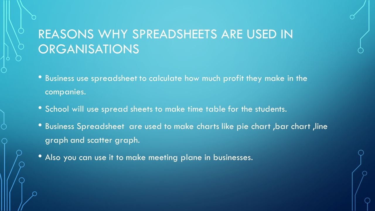 How Do You Use A Spreadsheet Inside Unit 9 Spreadsheet Development Assignment 1  Ppt Video Online Download