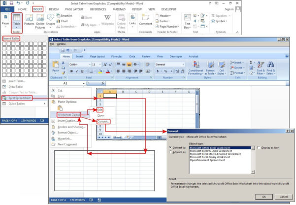 How Do You Use Excel Spreadsheet Inside How To Create Tables In Microsoft Word  Pcworld