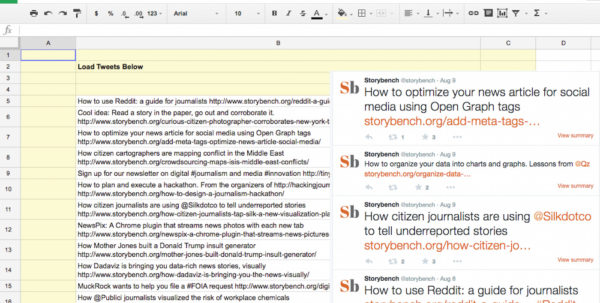 How To Build A Spreadsheet Pertaining To How To Build A Google Spreadsheet That Autotweets Your Archives
