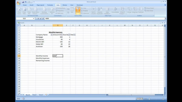How To Build An Excel Spreadsheet Inside How To Make An Excel Spreadsheet For Monthly Expenses