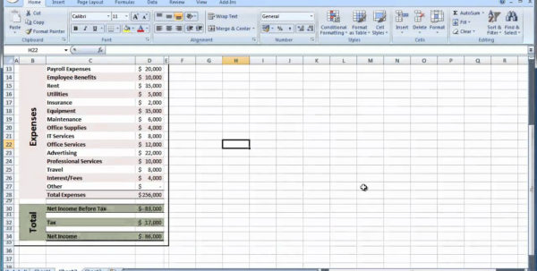 How To Create A Basic Excel Spreadsheet For Basic Income And Expenses Spreadsheet Simple Expense On Create An