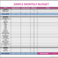 How To Create A Budget Spreadsheet Using Excel Intended For How To Make Budget Spreadsheet On Excel Monthly Finances  Pianotreasure