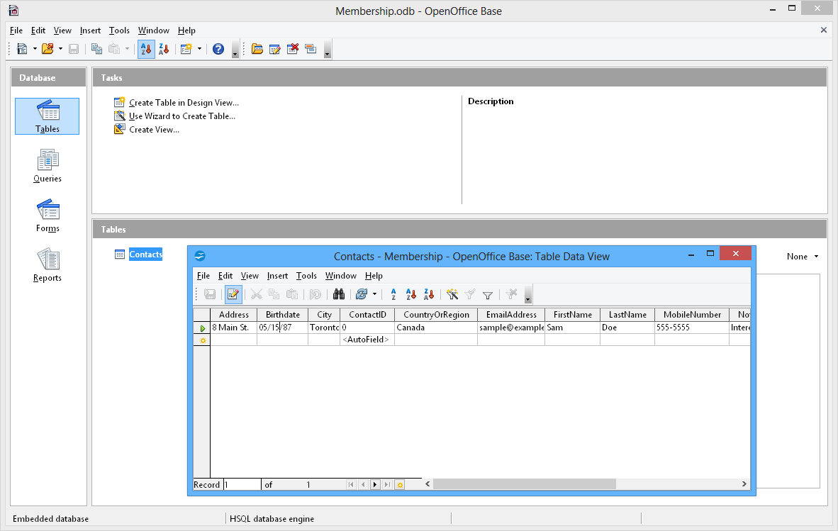 How To Create A Database In Openoffice From Spreadsheet Regarding Apache Openoffice Base