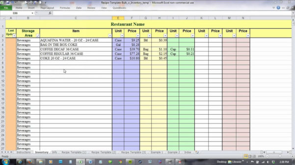 How To Create A Food Cost Spreadsheet With Regard To How To Create A Food Cost Spreadsheet As Online Spreadsheet Online