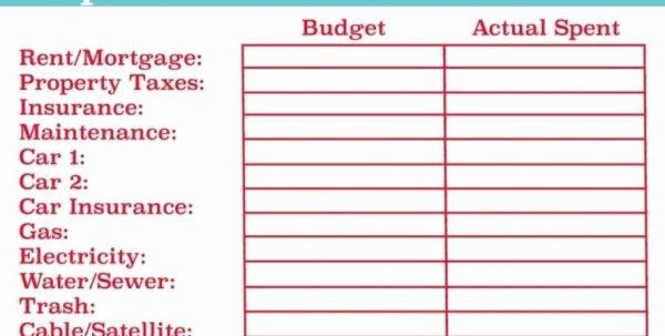 How To Create A Household Budget Spreadsheet In How To Make Household Budget Spreadsheet Home Excel Create