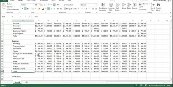 How To Create A Household Budget Spreadsheet Within Creating A Household Budget Filename  Hello Marathi