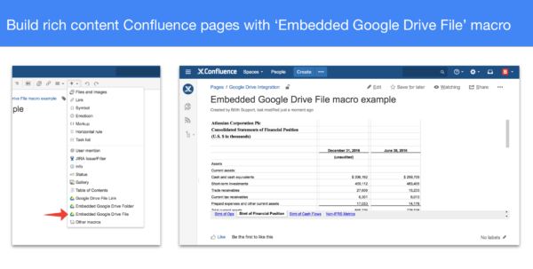 How To Create A Macro In Google Spreadsheet Intended For Google Drive  Docs For Confluence  Atlassian Marketplace