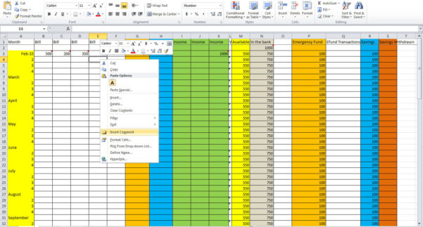 How To Create A Monthly Budget Spreadsheet In Excel Regarding How To Set Up A Monthly Budget Spreadsheet Free  Homebiz4U2Profit