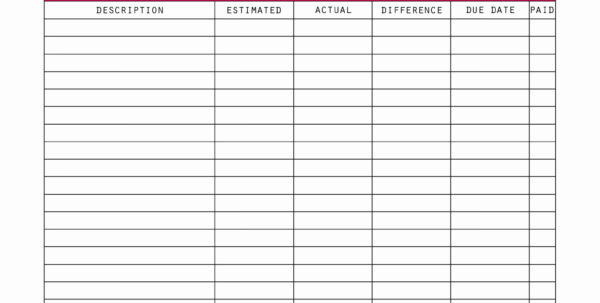 How To Create A Monthly Budget Spreadsheet In How To Make Monthly Budget Spreadsheet For Business Expense