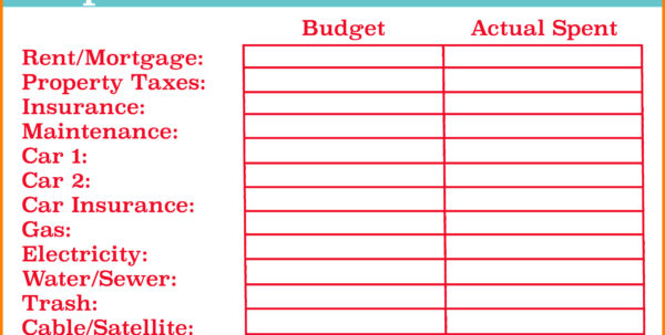 How To Create A Monthly Budget Spreadsheet Throughout How Toke Your Own Budget Spreadsheet Examples Create Worksheet