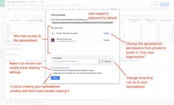 How To Create A Shared Google Spreadsheet In Google Sheets 101: The Beginner's Guide To Online Spreadsheets  The