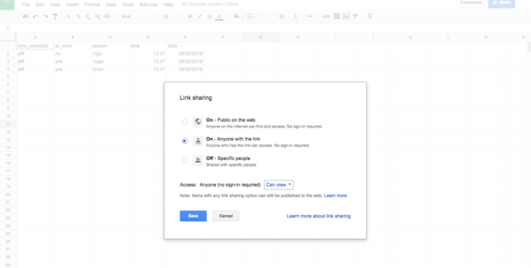 """How To Create A Shared Google Spreadsheet With Regard To How To Create A Free Distributed Data Collection """"app"""" With R And"""