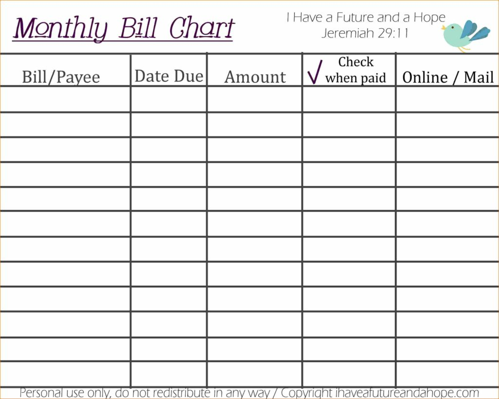 How To Create A Spreadsheet For Monthly Bills With Regard To Bills Excel Template And How To Make An Excel Spreadsheet For