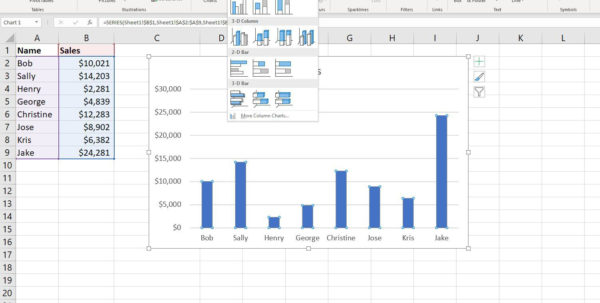 How To Create A Spreadsheet In Excel 2010 Regarding How To Create An 8 Column Chart In Excel