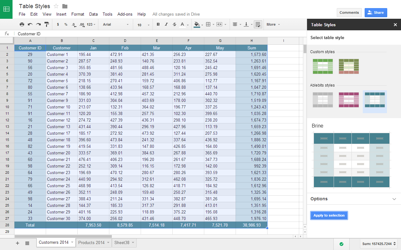 How To Create A Spreadsheet In Google Sheets Throughout Table Styles Addon For Google Sheets
