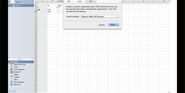 How To Create A Spreadsheet In Numbers For Macos  Can Numbers Save A File As Csv?  Ask Different