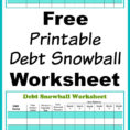 How To Create A Spreadsheet To Pay Off Debt Intended For Free Printable Debt Snowball Worksheet Pay Down Your Debt!