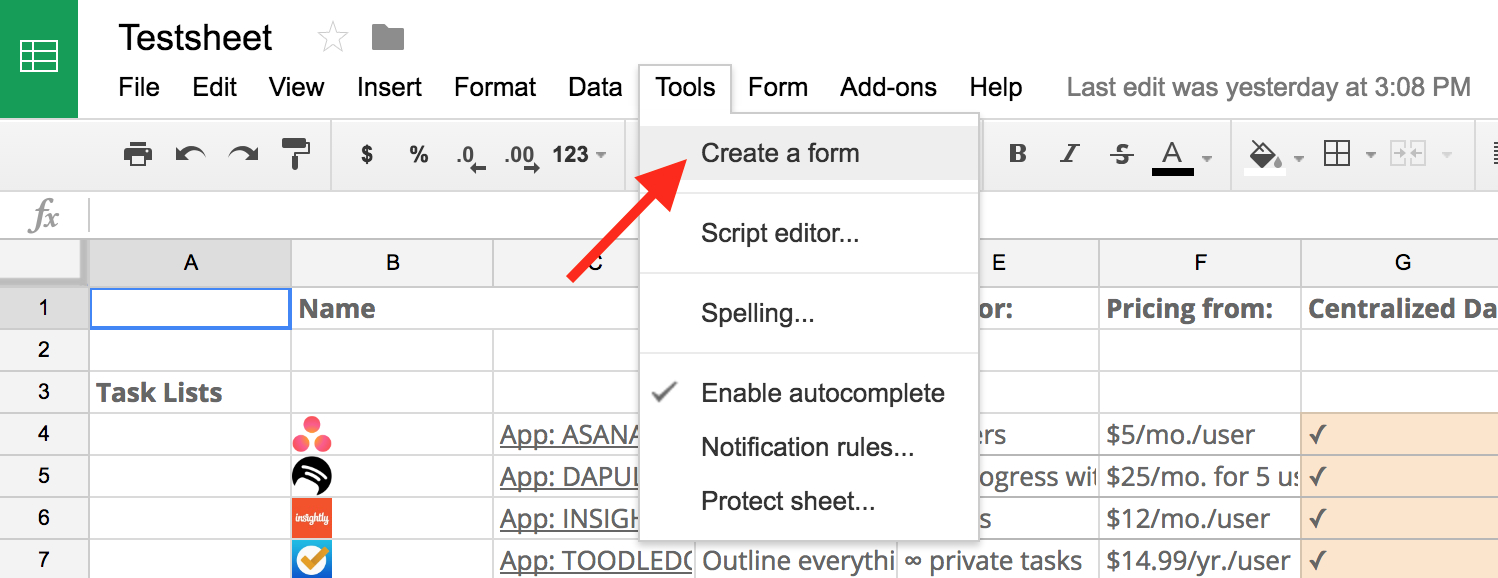 How To Create A Table In Google Spreadsheet Throughout Google Forms Guide: Everything You Need To Make Great Forms For Free