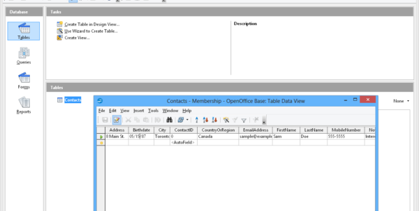How To Create A Table In Openoffice Spreadsheet Within Apache Openoffice Base