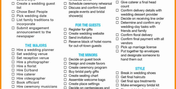 How To Create A Wedding Budget Spreadsheet With Regard To Printable Wedding Budget Spreadsheet Free Planning Checklist Sample
