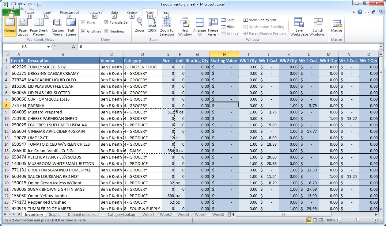 """How To Create An Excel Spreadsheet For Inventory For How Can I """"group By"""" And Sum A Column In Excel?  Super User"""