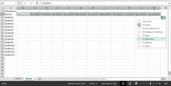 How To Create An Excel Spreadsheet With Regard To How To Create A Basic Attendance Sheet In Excel « Microsoft Office