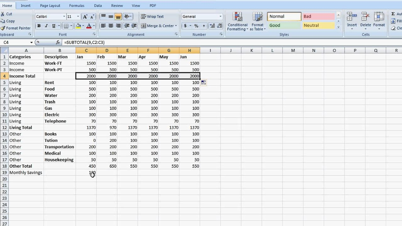 How To Create An Expenses Spreadsheet With How To Make An Excel Spreadsheet For Monthly Expenses Expense Log