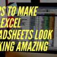 How To Design An Excel Spreadsheet In How To Make Your Excel Spreadsheets Look Professional In Just 12 Steps