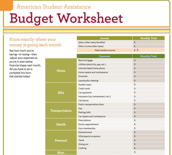 How To Do A Budget Spreadsheet For Budget Worksheet Template Dave Ramsey Kidz Activities – Nurul Amal