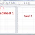 How To Do A Microsoft Excel Spreadsheet For How Do I View Two Sheets Of An Excel Workbook At The Same Time
