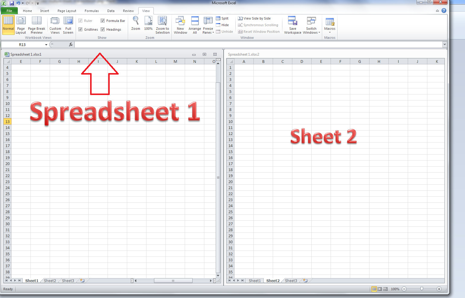 How To Do A Spreadsheet On Excel 2010 Inside How Do I View Two Sheets Of An Excel Workbook At The Same Time