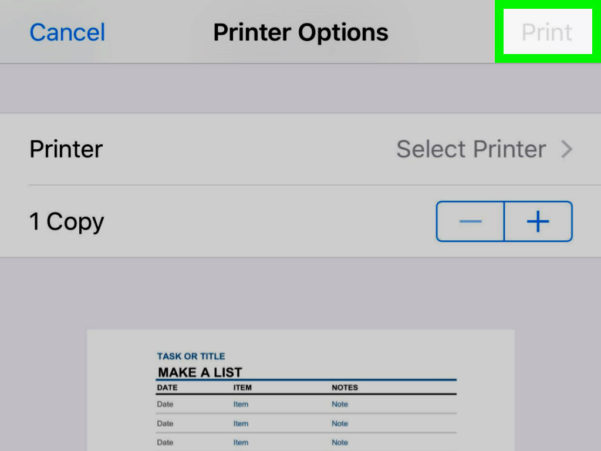 How To Do A Spreadsheet On Iphone In How To Print An Excel Spreadsheet On Iphone Or Ipad: 14 Steps