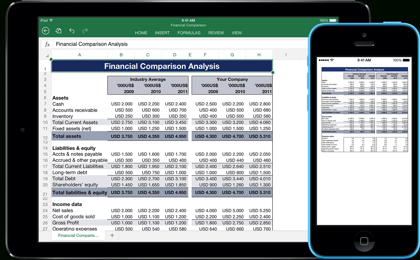 How To Do A Spreadsheet On Iphone Throughout Templates For Excel For Ipad, Iphone, And Ipod Touch  Made For Use