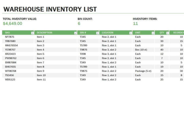How To Do An Inventory Spreadsheet On Excel Regarding Warehouse Inventory Spreadsheet Excel Free  Pulpedagogen