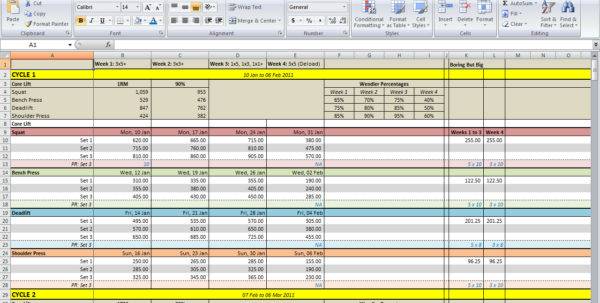 How To Download Spreadsheet For 531 Spreadsheet Download  All Things Gym