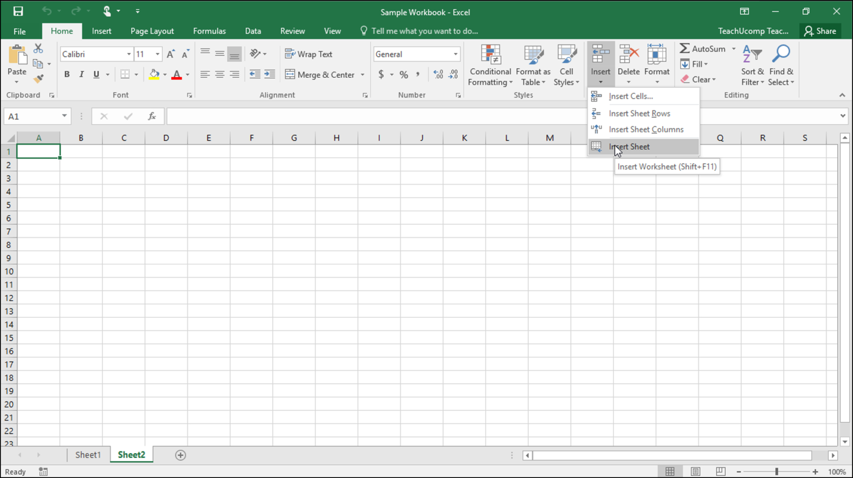 How To Excel Spreadsheet With Inserting And Deleting Worksheets In Excel Tutorial
