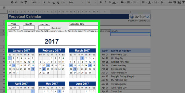 How To Make A Calendar In Google Spreadsheet With The 2 Best Ways To Create A Calendar In Google Docs  Wikihow
