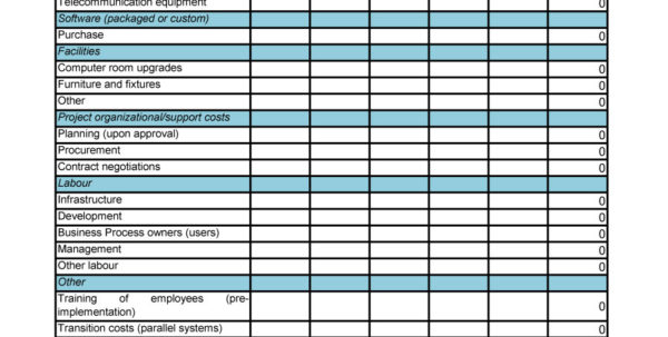 How To Make A Cost Analysis Spreadsheet In 40  Cost Benefit Analysis Templates  Examples!  Template Lab