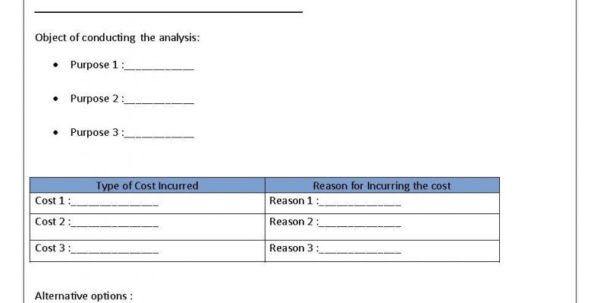 How To Make A Cost Analysis Spreadsheet With How To Make A Cost Analysis Spreadsheet With Create Benefit Template