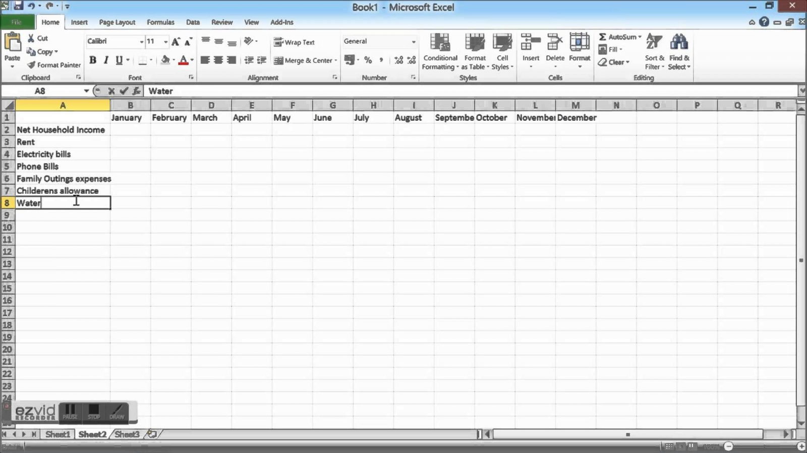 How To Make A Home Budget Spreadsheet With Regard To Household Budget And Finances Template Tutorial Excel Youtube