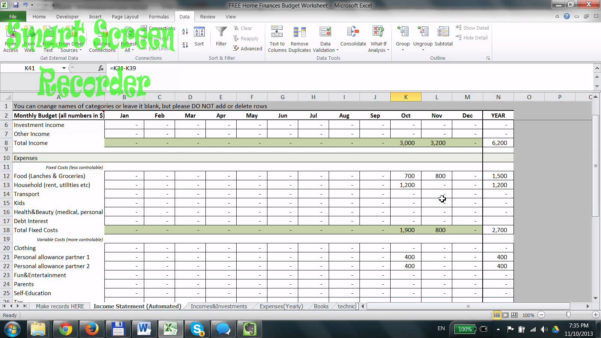 How To Make A Home Budget Spreadsheet Within How To Make Home Budget Spreadsheet Do Household Worksheet Excel Use