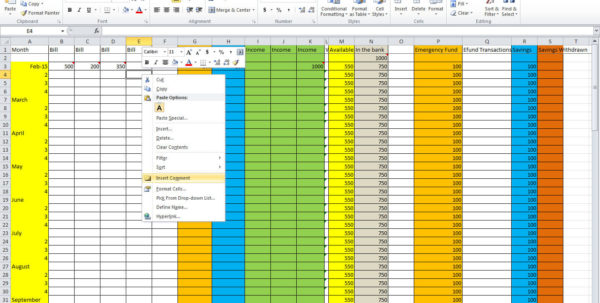How To Make A Monthly Budget Spreadsheet Inside How To Set Up A Monthly Budget Spreadsheet Free  Homebiz4U2Profit