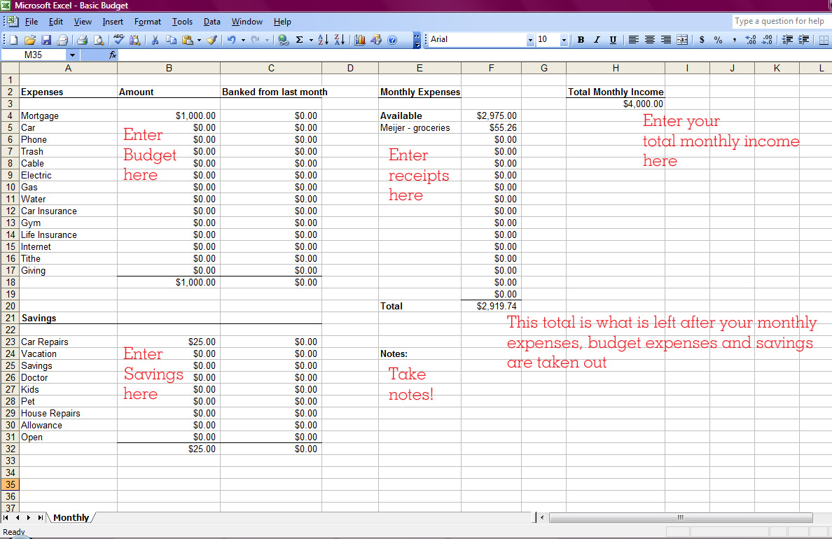 How To Make A Monthly Budget Spreadsheet Intended For Spreadsheet Monthly Budget Worksheet Excel How To Make  Pianotreasure